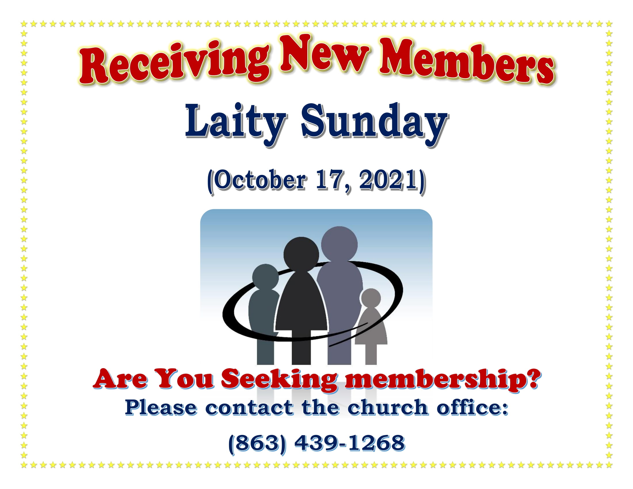 Receiving New Members (Laity Sunday)